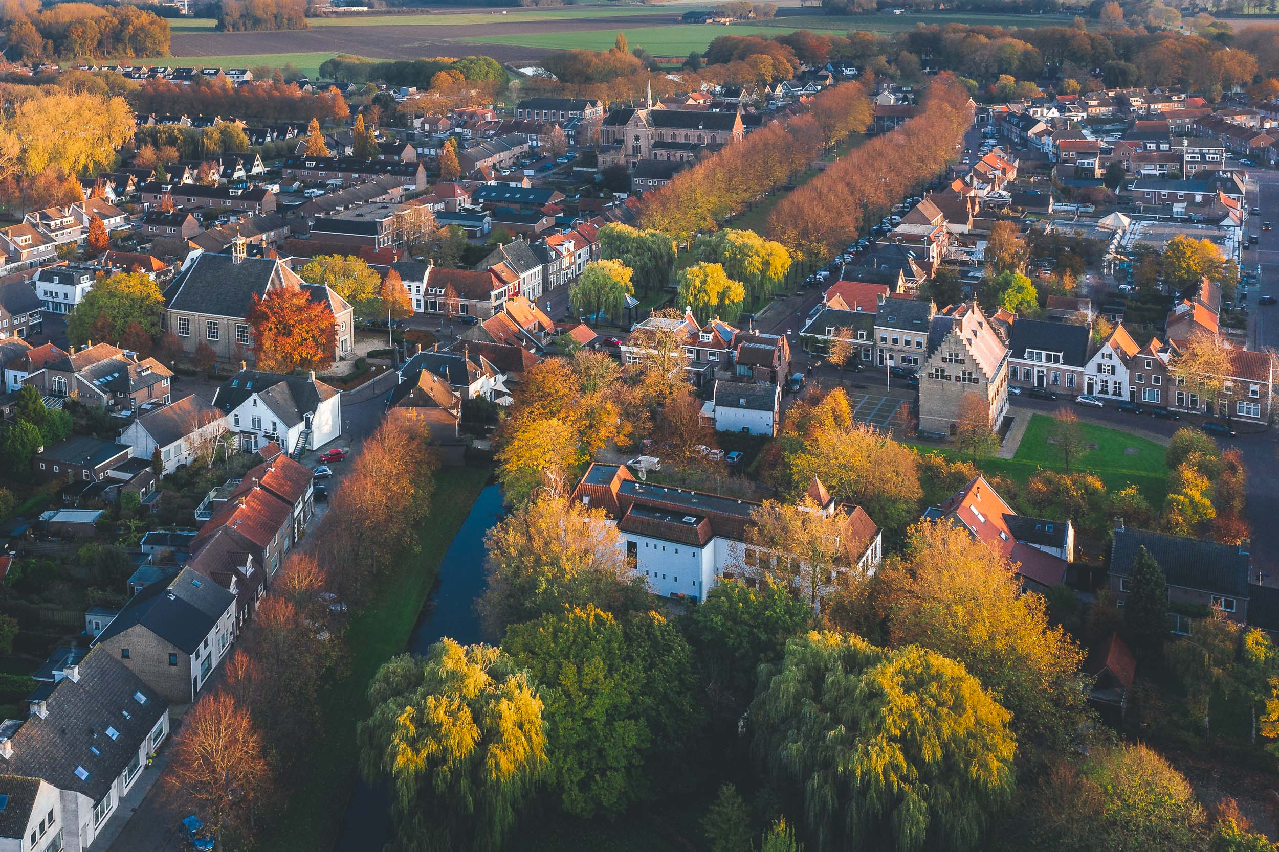 Centrum Klundert in herfst
